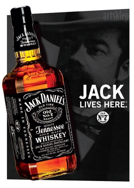 Jack Daniels 3D Lenticular Poster - Bottle.